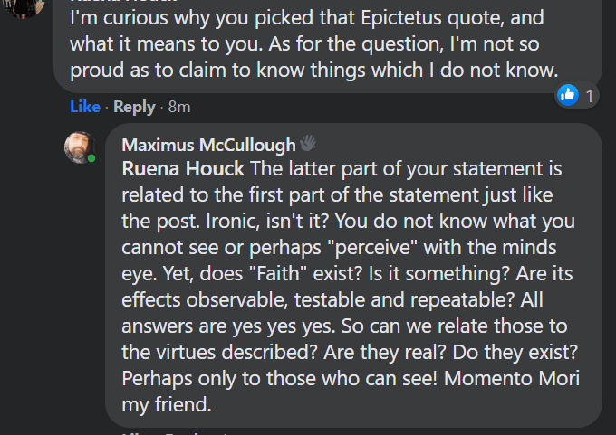 why you picked that Epictetus quote